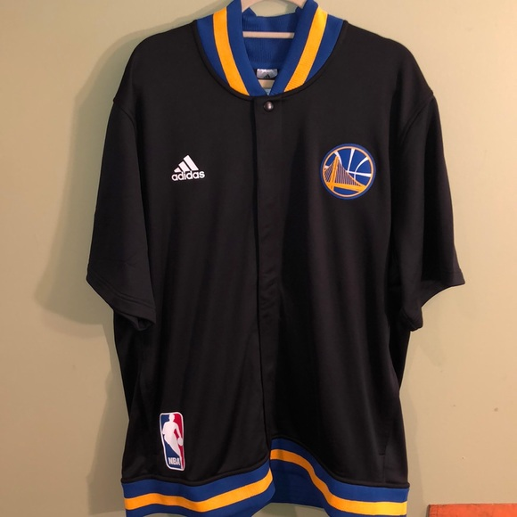 hot sales d9591 86cf5 NWT Adidas Golden State Warriors Warmup Jacket NWT